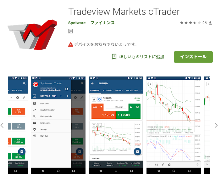 Tradeview Markets cTrader