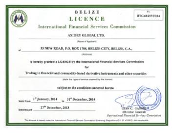 AXIORYの金融ライセンス、企業体制の検証結果