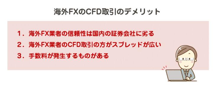 海外FXのCFD取引のデメリット