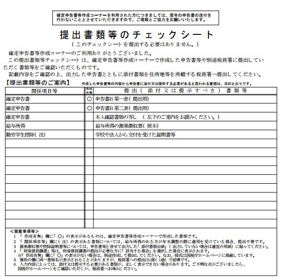 5.確定申告書を税務署に提出する