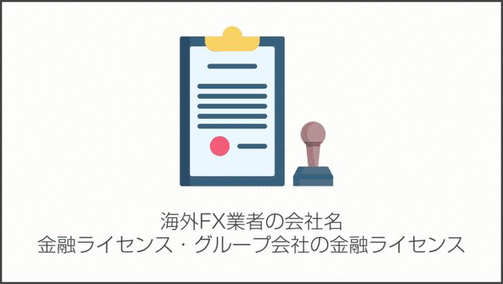 海外FX業者の会社名・金融ライセンス・グループ会社の金融ライセンス
