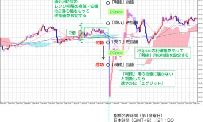 【海外FXトレード手法1週間検証ブログ】待ち伏せ型指標発表トレード/勝率71.4%、+66.2pips勝