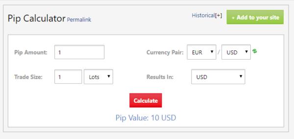 「ユーロ/米ドル」1ロット(10万通貨)のトレードで1pipsの儲けの価値は?
