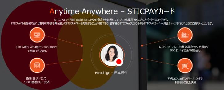 その3.ATMで出金できる「STICPAYカード」