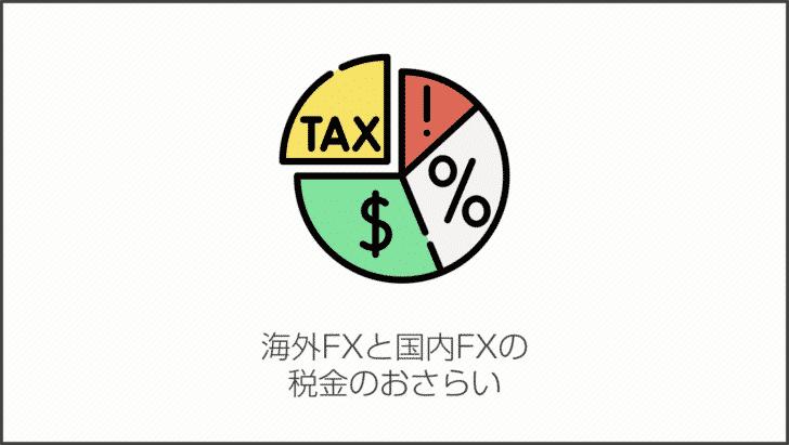 海外FXと国内FXの税金のおさらい